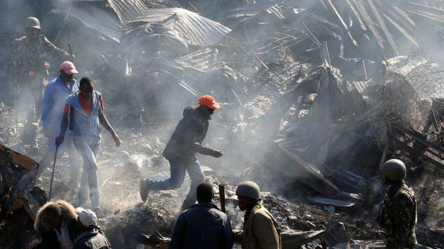 Incêndio no Quênia